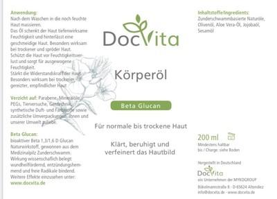 DocVita Körperöl 200 ml