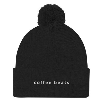 Embroidered Bobble Beanie