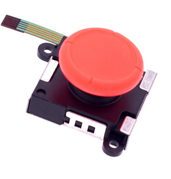 3D analog joystick - Red Compatible with Nintendo Switch