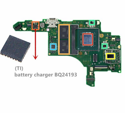 Motherboard battery charging IC chip - BQ24193 Compatible with Nintendo Switch