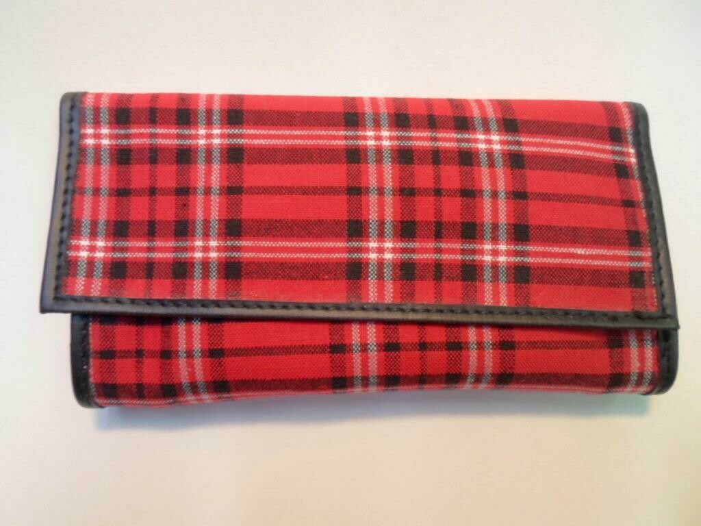 Plaid Roll-up Tobacco Pouch by Castleford