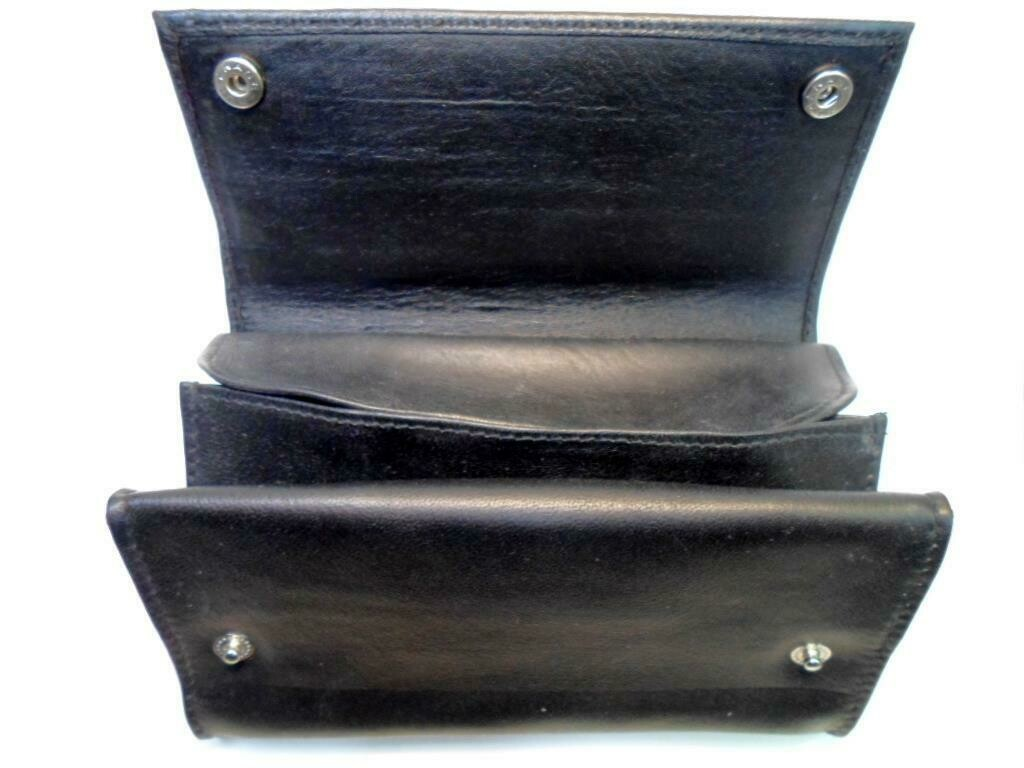 "Castleford Box 6"" Snap Fold-up Genuine Leather Tobacco Pouch"