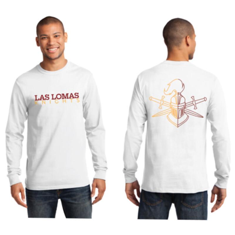 White Long Sleeve Logo T