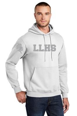 LLHS Hoodie - Gray on White