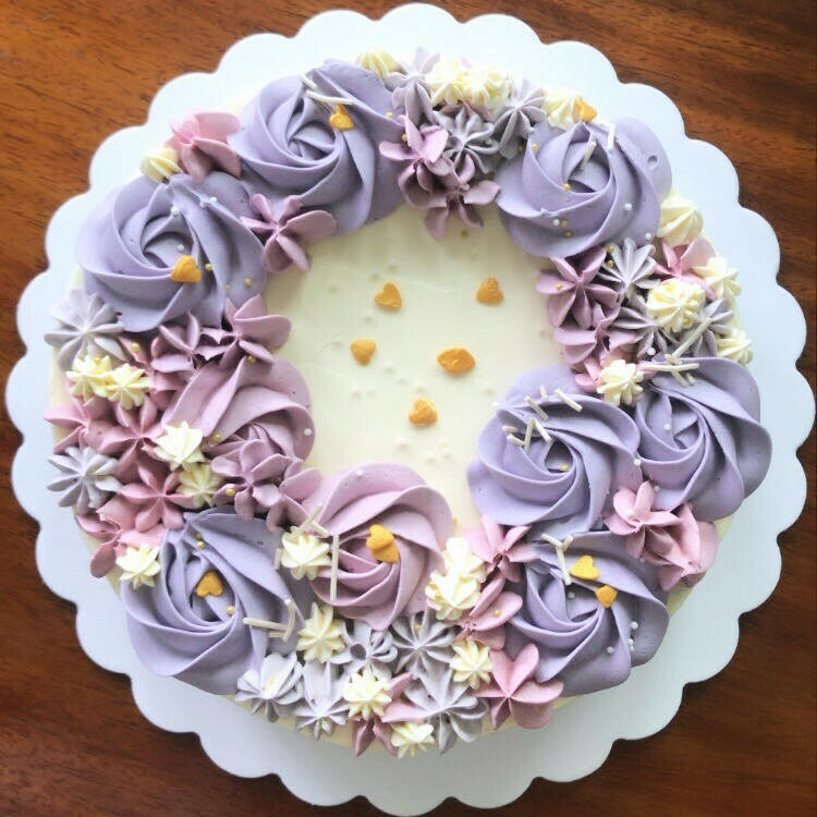 Floral Vanilla Cake or Cupcakes
