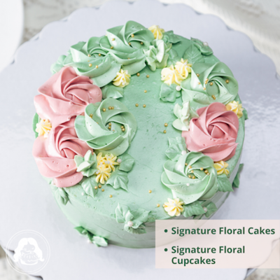 Signature Floral Cakes or Cupcakes
