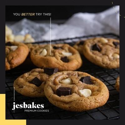 Dark Chocolate Macadamia Cookies