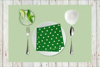 Polka Dot Paper Napkin Green - (Pack of 20)