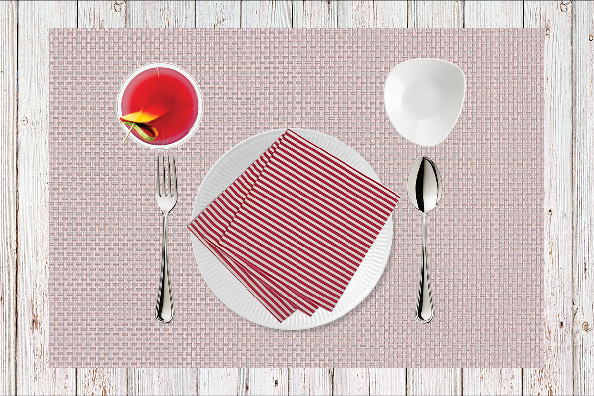 Stripes Red Paper Napkin - (Pack of 20)