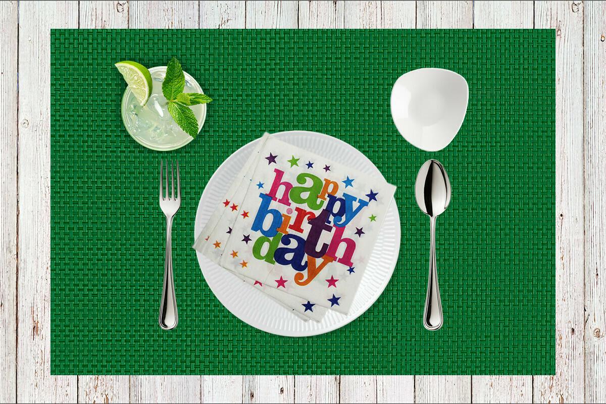Happy Birthday Paper Napkin 13x13 - (Pack of 20)