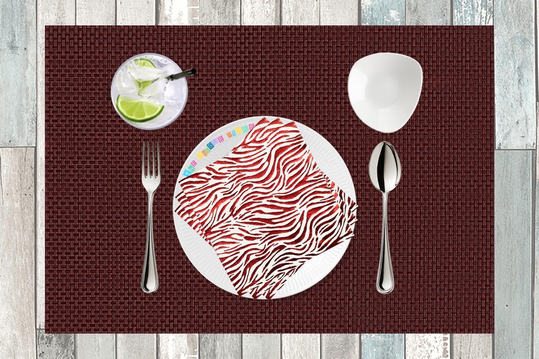 Metallic Red Animal Print Paper Napkin 13x13 - (Pack of 20)
