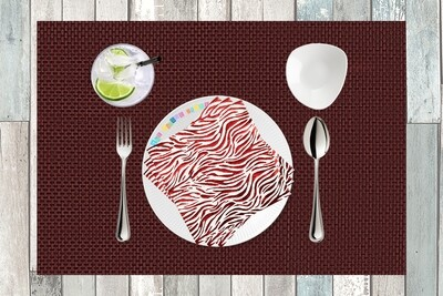 Metallic Red Animal Print Paper Napkin 13x13 - (Pack of 20)
