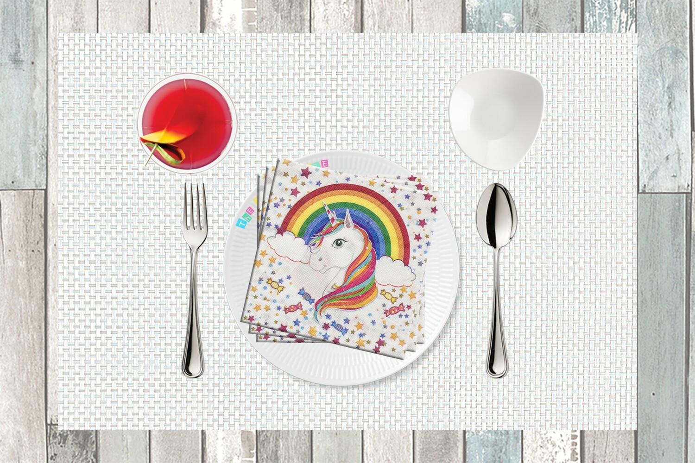 Unicorn Print Paper Napkin - (Pack of 20)