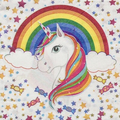 Unicorn Print Paper Napkin - (Pack of 20)