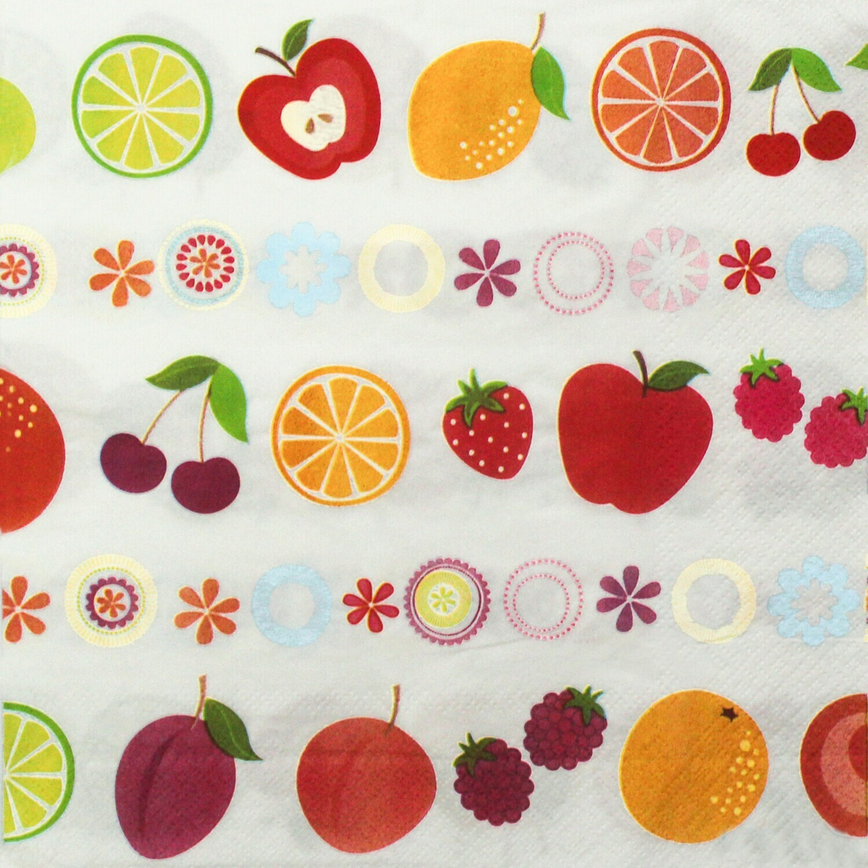 Fruit Print Paper Napkin - 16x16 (Pack of 20)