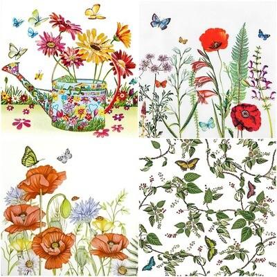 Decoupage Paper Napkins - Butterflies C (4 Sheets)