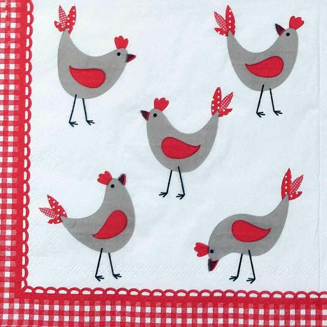 Chicken Print Paper Napkin 13x13 - (Pack of 20)