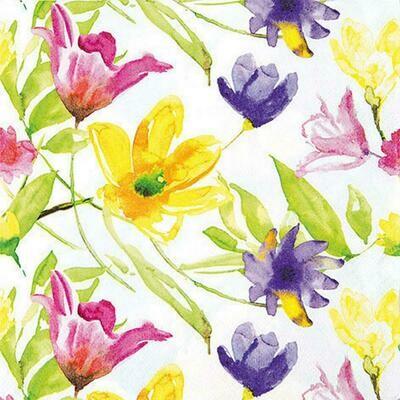 Decoupage Paper Napkins - Floral Lucy (1 Sheet)