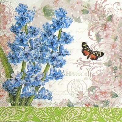 Decoupage Paper Napkins - Butterfly - Hyacint (1 Sheet)