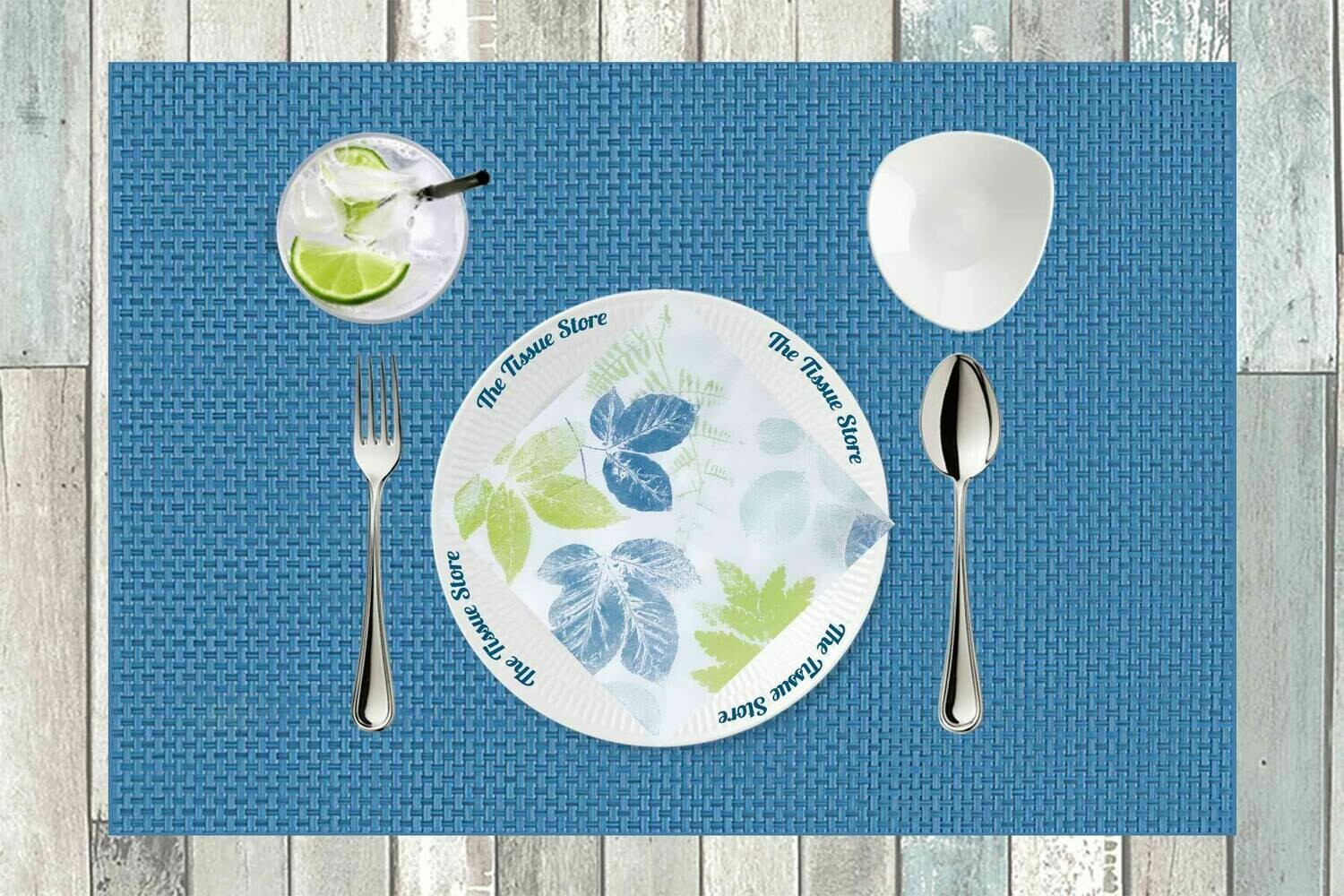 Leaves Blue & Green Paper Napkin 13x13 - (Pack of 20)