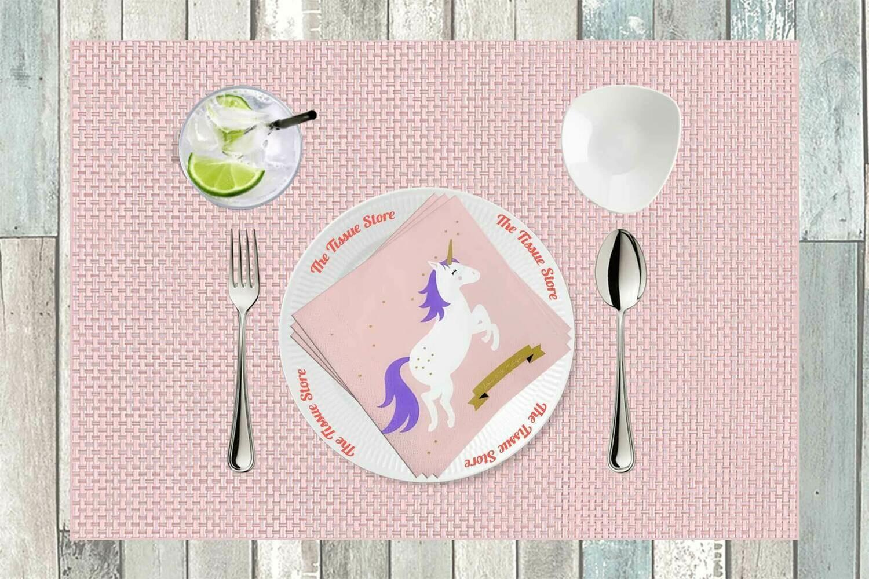 Unicorn Pink Paper Napkin 13x13 - (Pack of 20)