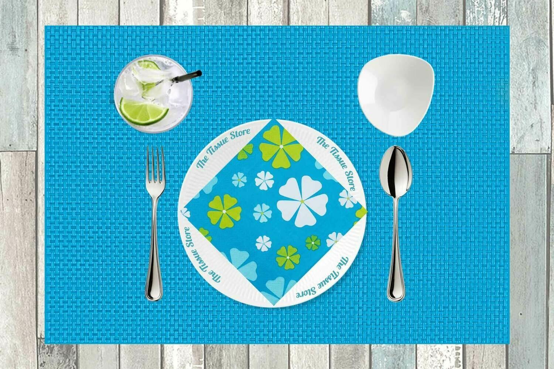Floral Blue Paper Napkin 13x13 - (Pack of 20)