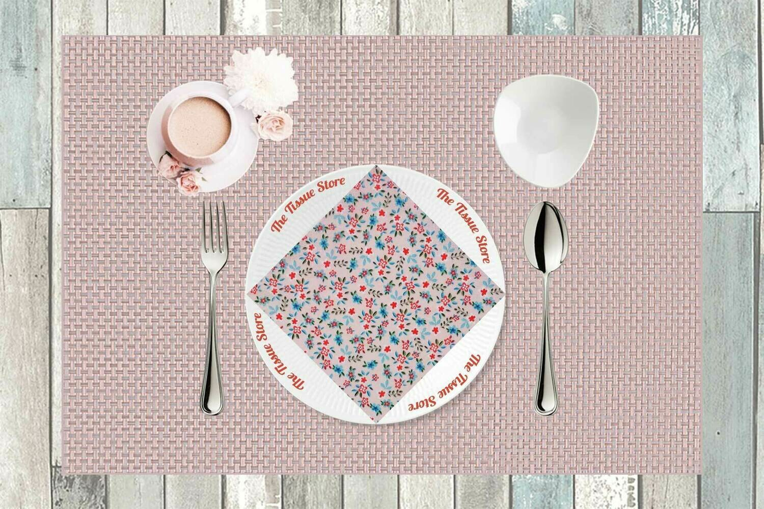 Floral Pink Paper Napkin 13x13 - (Pack of 20)