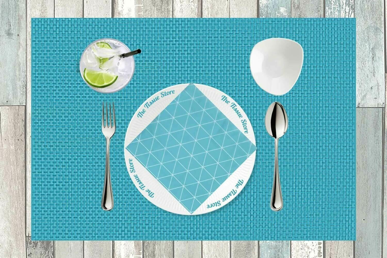Pattern Design Blue Paper Napkin 13x13 - (Pack of 20)