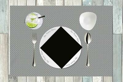 Black Plain Paper Napkin 16x16 - (Pack of 20)