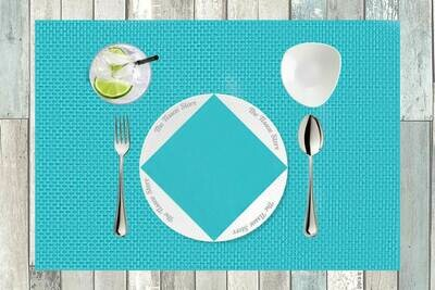 Turquoise Plain Paper Napkin - 16x16 (Pack of 20)
