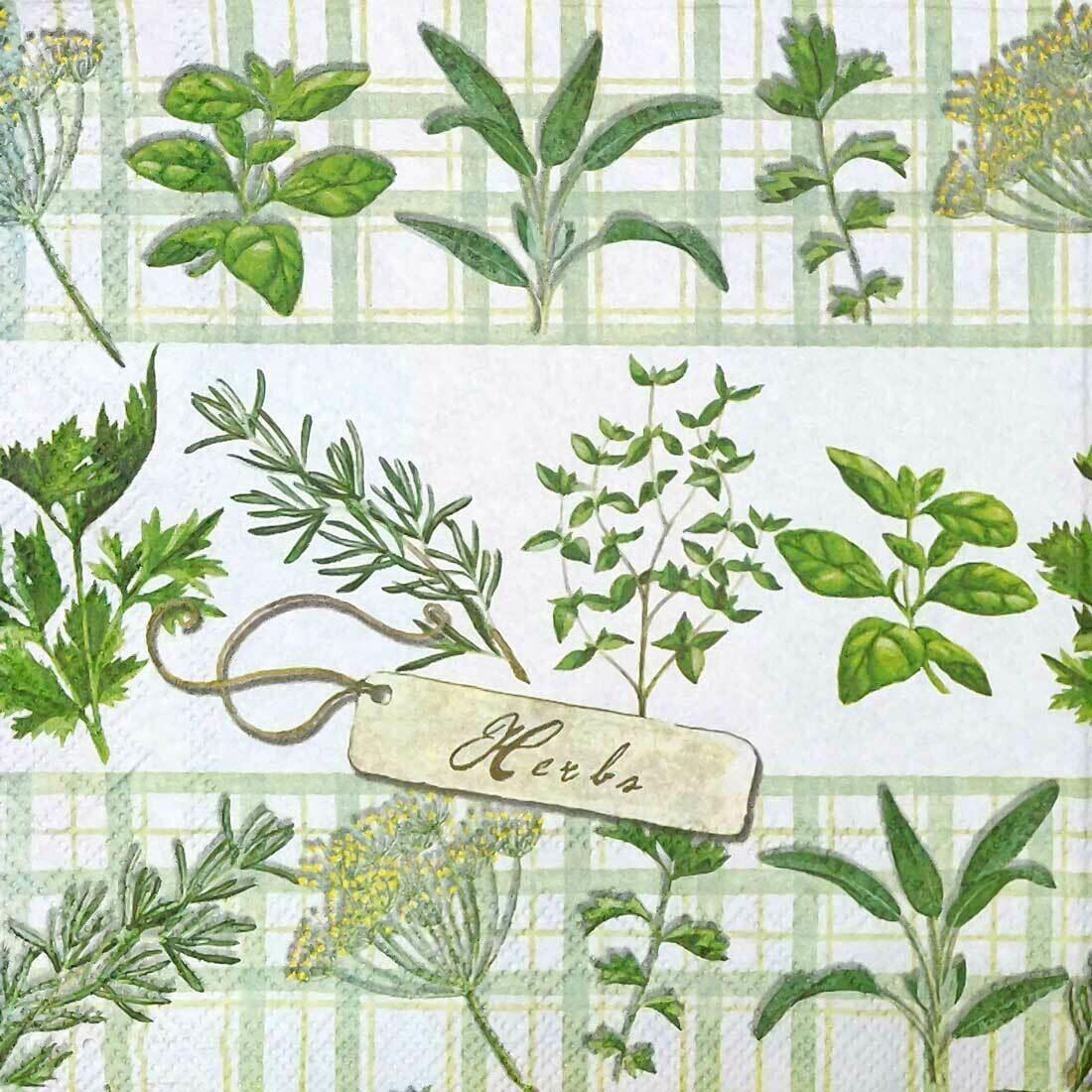Decoupage Paper Napkins - Herb Garden 13x13 (1 Sheet)