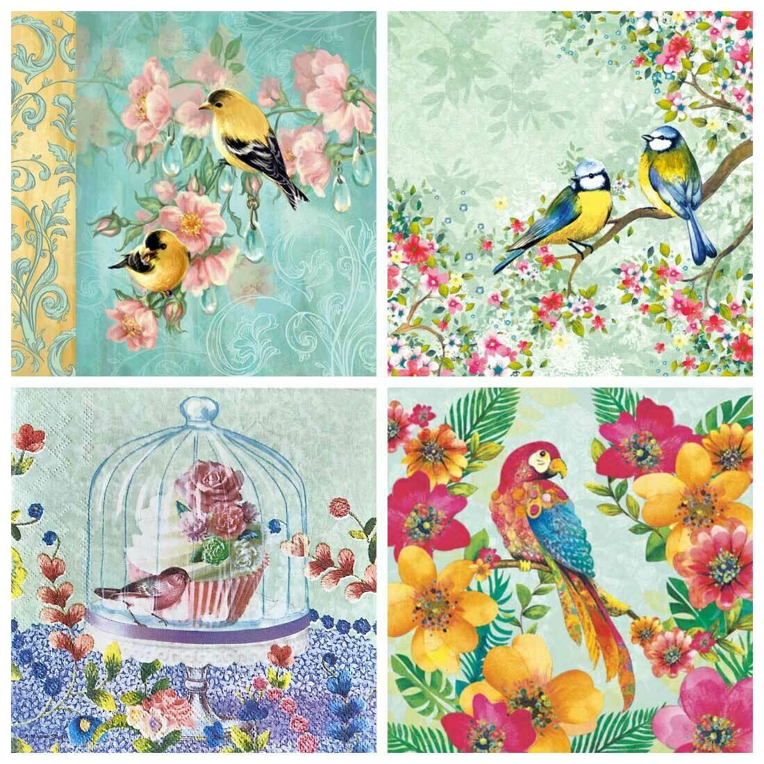 Decoupage Paper Napkins - Bird Print 7G (4 Sheets)