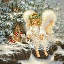 Decoupage Paper Napkins - Christmas Angel - 13x13 (1 Sheet)