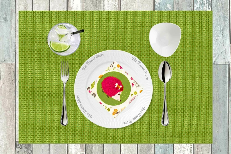 Breakfast / Cocktail Paper Napkin -Porcupine- Print - (Pack of 20)