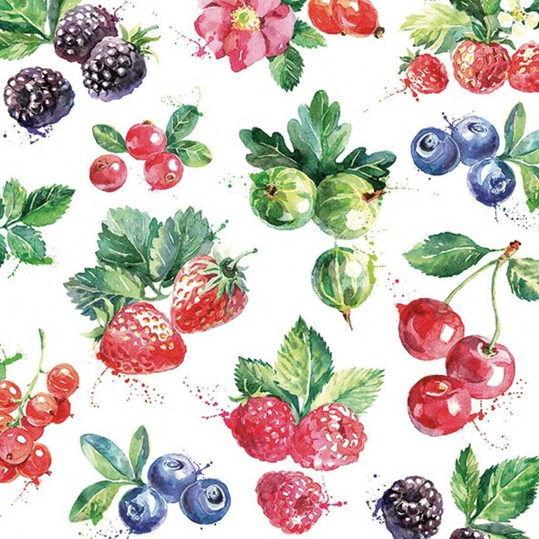 Decoupage Paper Napkins - Mixed Fruit 13x13 (1 Sheet)