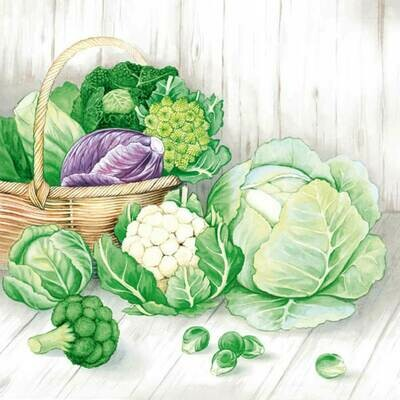 Decoupage Paper Napkins - Vegetables 13x13 (1 Sheet)