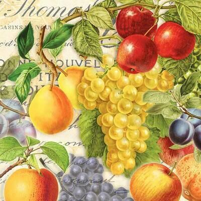 Decoupage Paper Napkins - Fruits 13x13 (1 Sheet)