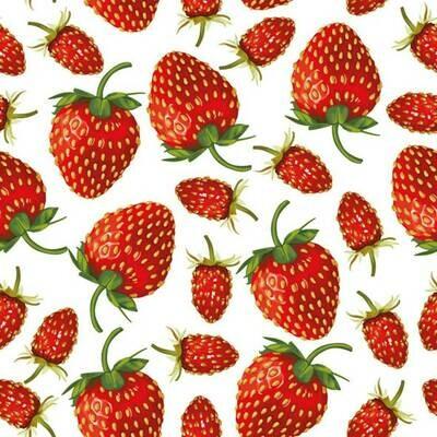 Decoupage Paper Napkins - Strawberries (1 Sheets)