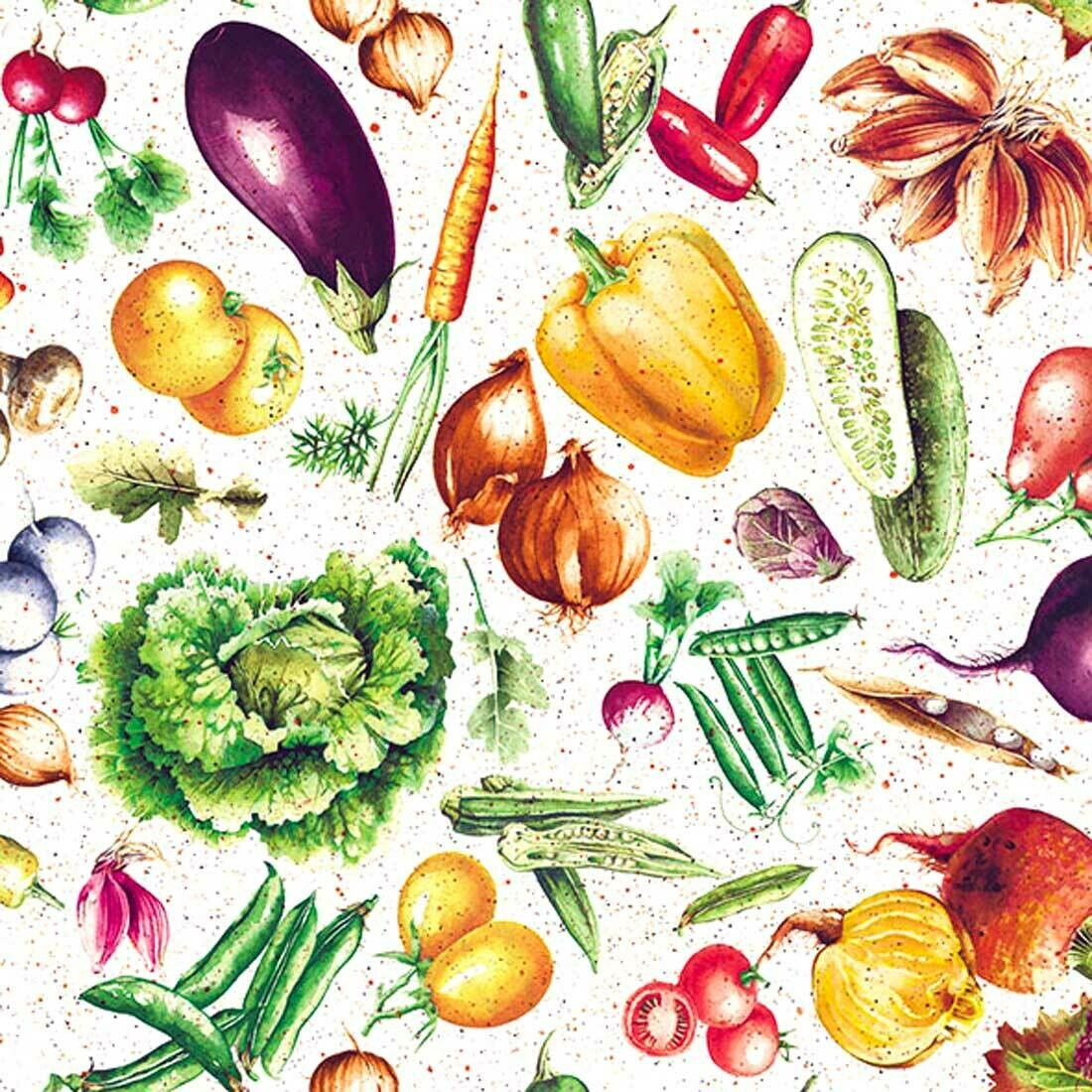 Decoupage Paper Napkins - Mixed Vegetables13x13 (1 Sheet)