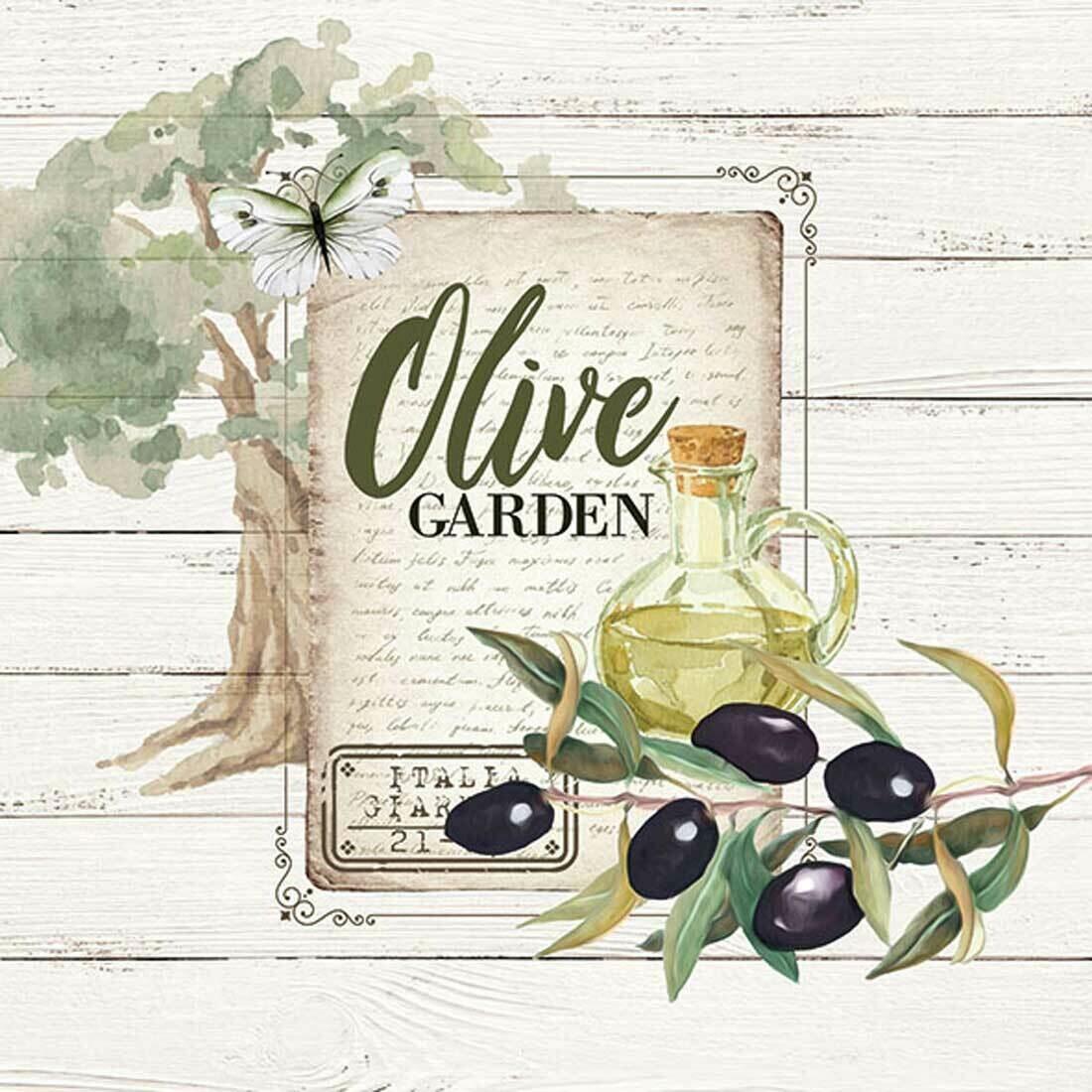Decoupage Paper Napkins - Olive Garden 13x13 (1 Sheets)
