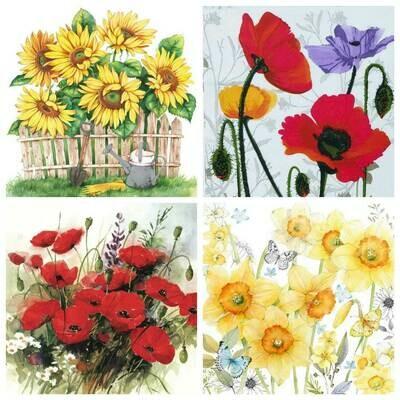Decoupage Paper Napkins - Floral 10 (4 Sheets)
