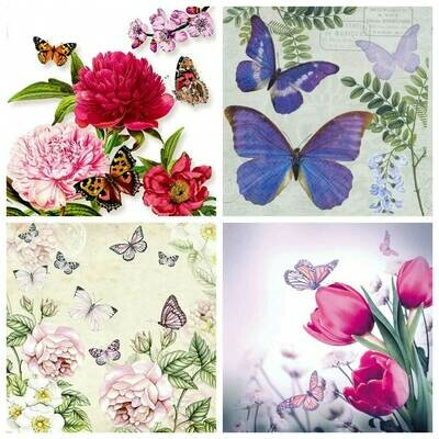 Decoupage Paper Napkins - Butterflies 6 (4 Sheets)