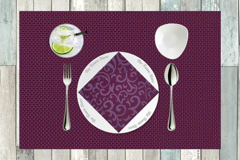 Purple Paper Napkin 16x16 - (Pack of 20)