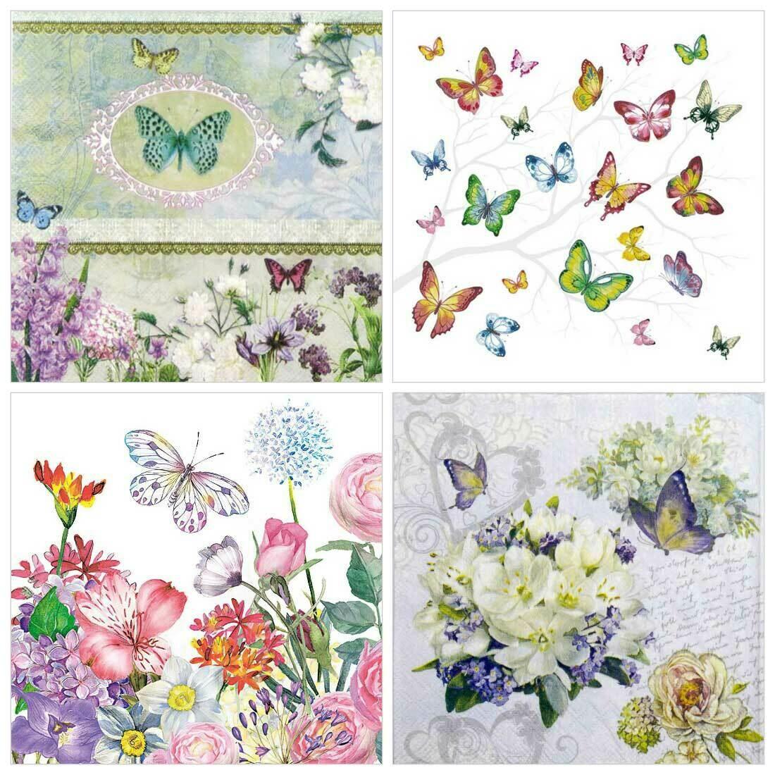 Decoupage Paper Napkins - Butterflies 5 (4 Sheets)