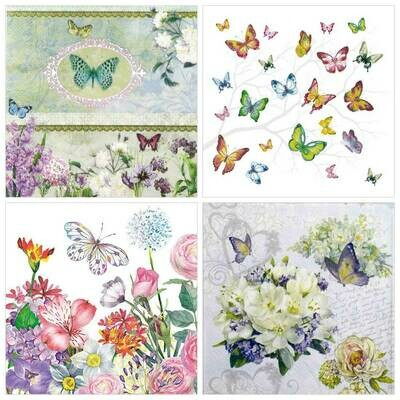 Decoupage Paper Napkins - Butterflies 5 (4 Sheets)