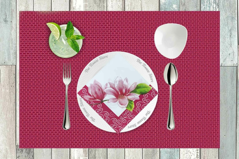 Floral Pink Paper Napkin - (Pack of 20)