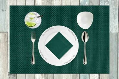 Breakfast / Cocktail Paper Napkin - Plain Green 9x9- (Pack of 20)