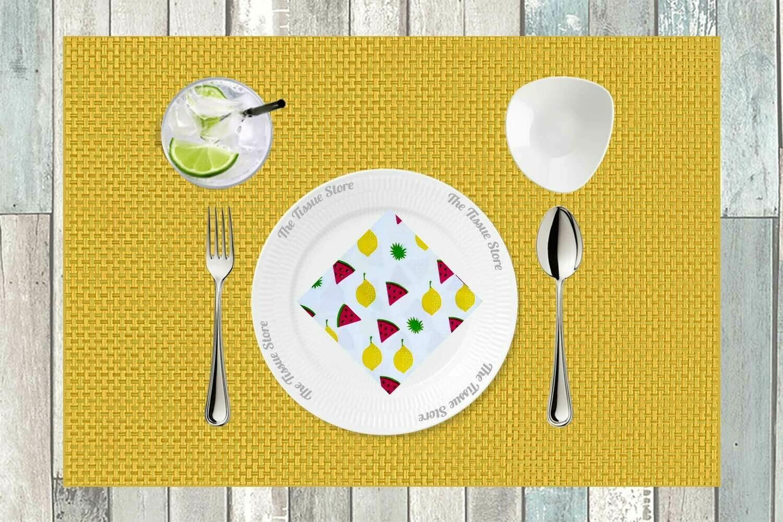 Breakfast / Cocktail Paper Napkin - Watermelon & Mango 9x9- (Pack of 20)