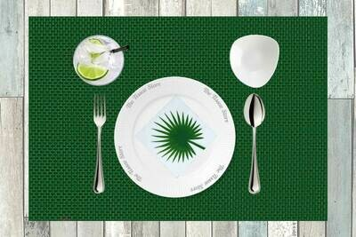Breakfast / Cocktail Paper Napkin - Green Leaf 9x9- (Pack of 20)
