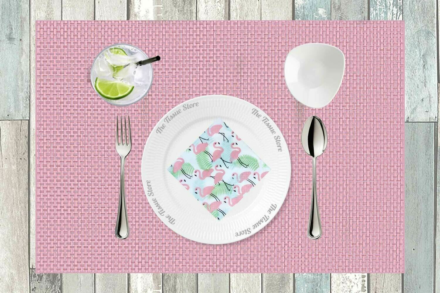 Breakfast / Cocktail Paper Napkin - Flamingo 9x9- (Pack of 20)